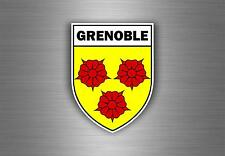 Sticker decal car bike motorcycle souvenir france flag city of grenoble shield