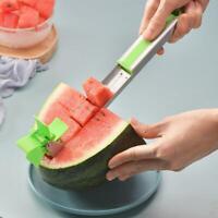 Wassermelonenschneider Cutter Messerzangen Corer Obst Melone Edelstahl Sell