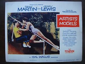 """ARTISTS & MODELS Lobby Card #3 US Movie Poster 11x14"""" Jerry Lewis Film 1955 VF"""
