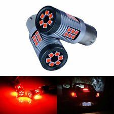 2x LED 1156 BA15s P21W Rouge Voiture Ampoules Arrière Stop Frein Queue Lumières