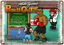 "Mike Tyson's Punch-Out Nintendo Start Screen Ad10""x7"" Reproduction Metal Sign"