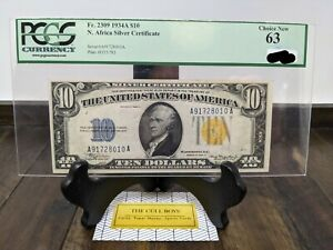 $10 1934A North Africa WWII Emergency Issue. PCGS CHOICE NEW 63! Friedberg #2309
