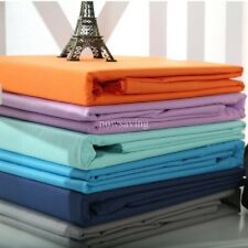 Egyptian Cotton Bed Flat Sheet Premium Top Sheet Full Queen King Plain Color