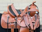 HORSE SADDLE WESTERN USED TRAIL RANCH BARREL TOOLED LEATHER TACK 15 16 17 18