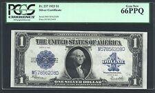 "U.S. 1923 $1 SILVER CERTIFICATE BANKNOTE FR-237 CERTIFIED PCGS  ""GEM NEW-66-PPQ"""