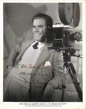 *It Happened One Night (1934) 8x10 Photo of Frank Capra Inscribed By Frank Capra