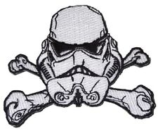 STAR WARS Storm Trooper Crossed Bones Embroidered PATCH
