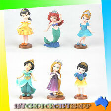 6pc Disney Princess Figures Cake Topper Figurine