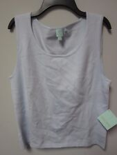 SHU SHU Women's Winter Blue Sleeveless Shirt Size Large
