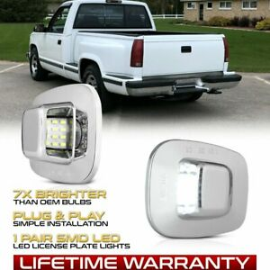 For Chevy GMC C/K 1500 2500 3500 Pickup Rear LED License Plate Tag Light Canbus