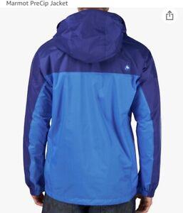 Nwt Marmot PreCip Blue/Navy Men's Nylon Rain Wind Minimalist Jacket Size Medium
