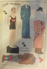Blondie Sunday by Chic Young from 3/18/1934 Rare Paper Doll Full Page Size !