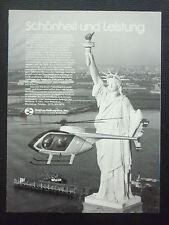3/1983 PUB HUGHES HELICOPTERS HUGHES 500E STATUE LIBERTE NEW-YORK GERMAN AD