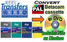 Convert PAL BetacamSX/Digi-Beta/MPEG IMX tape transfer to NTSC DVD