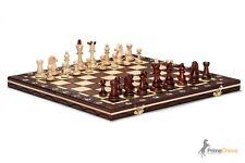 LARGE SENATOR WOODEN CHESS SET41cm - BURNT DESIGN ON EACH PIECE! HORNBEAM WOOD!