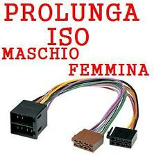 CONNETTORE PROLUNGA ISO FEMMINA MASCHIO AUTORADIO NUOVO 04625