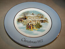 Christmas Plate Series 1977 Avon 5th Ed. Carollers in the Snow Enoch Wedgwood