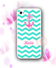 MONOGRAM Mint Chevron PINK Anchor Rubber Silicone Case For iPhone 7 7+ 6S SE 5S