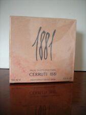 Cerrutti 1881 POUR FEMME EDT 100ml Eau de Toilette Nuovo Pellicola