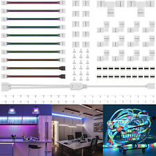 75Pcs/Set 4Pin RGB 5050 LED Connector LED Strip Light Connectors Accessories Kit
