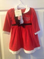 Baby Girls Christmas Santa Claus Dress Tights Outfit Costume Holiday Gift 9-12M