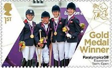 UK ParalympicsGB Gold Medal Winner Single Stamp Equestrian Team MNH 2012