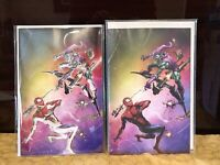 Amazing Spiderman 49 Clayton Crain Rainbow & Negative Variant Set NYCC 850