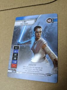 Star Wars Destiny UNRELEASED Rey/Kylo double-sided spot gloss - SUPER RARE