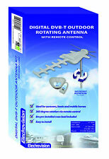 Outdoor Digital TV Aerial DVB-T Antenna Kit with Remote Control Rotator caravan
