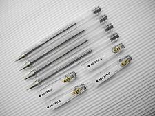 10Pcs Pilot Hi-Tec-C 0.25mm HYPER FINE Roller ball Pen with cap Black(Japan)