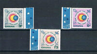 Ghana 1964 Quiet Sun Year - New Colors - SC 186-188 [SG 332v-334v] - MNH 20