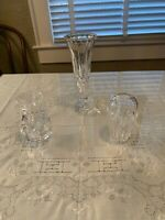 Lot of 3 Waterford Crystal bud vases - original family owner - perfect condition