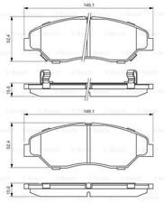 Bremsbelagsatz, Scheibenbremse für Bremsanlage Vorderachse BOSCH 0 986 424 696