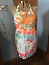 New listing Tie Dye Apron 100% Cotton For Grilling, Gardening, Crafts (Explosion)