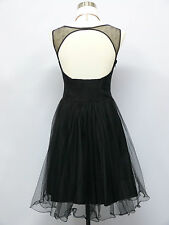 Cherlone Black Prom Ball Evening Bridesmaid Wedding Knee Length Formal Dress 14