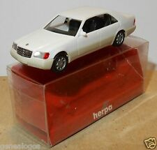 MICRO HERPA HO 1/87 MERCEDES 600 SEL BLANCHE IN BOX