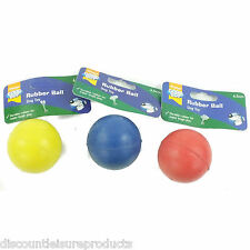 Good Boy Dog/Puppy Toy - Solid Rubber Ball 65mm Throw Fetch Toy Pack Of 3 -08401