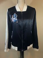 Juicy Couture Full Zip Track Jacket Womens Large Dark Blue