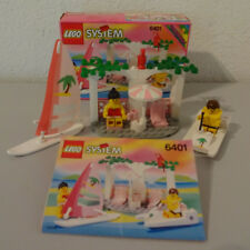 (D4) LEGO SYSTEM PARADISA 6401 SEASIDES CABANA MIT OVP & BA 100% KOMPLETT