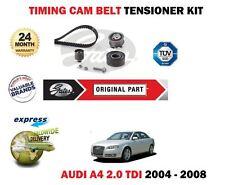 FOR AUDI A4 2.0 TDi 16V 2004-2008 GATES TIMING CAM BELT TENSIONER  KIT COMPLETE