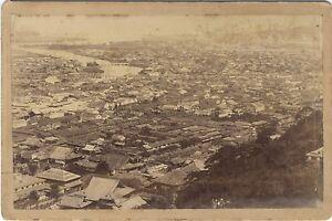 Ville d'Asie à identifier Chine ? Vietnam ? Vintage albumine ca 1890