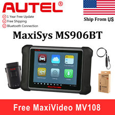Autel MaxiSys MS906BT Auto Diagnostic Tool Key Programming Better MS906 + MV108