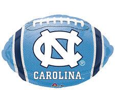 """NCAA UNC North Carolina Tar Heels Football Shaped 18"""" Balloons Party 3 Pack"""