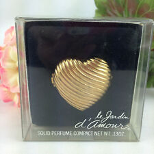 Vintage Max Factor Le Jardin Figural Heart Solid Perfume Compact Never Used
