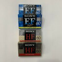 SONY 60 EF super, HF Hi-Fi 60 Bundle Audio Cassette Made In Tokyo Japan New