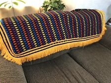 "Funky Blue Orange Yellow 52x52"" Square Tablecloth or Throw w/ Fringe (Rf905)"