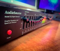 AUDIOSOURCE Eight/Series II Vintage Stereo Equalizer With Spectrum Analyzer