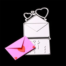 Heart Envelope Cutting Die Metal Scrapbooking Dies Craft Dies Greeting Card UK