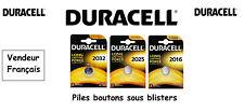 Piles boutons lithium Duracell CR2032 3V, Expédition Rapide Et Gratuite