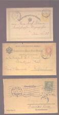 AUSTRIA - POSTAL STATIONERY - 3 CARDS - WIEN & SALZ - 1870/80